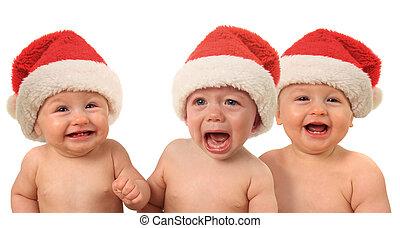 Funny Christmas babies - Funny Christmas Santa babies....