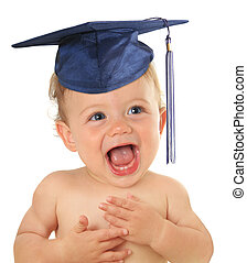 Graduate baby - Adorable ten month old baby wearing a...