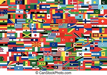 vector flags of all countries in on