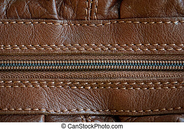 leather with zipper texture (close up)