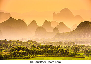 Karst Mountains of China - Karst Mountains of Guilin, China.