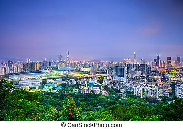Shenzhen, China Skyline - Shenzhen, China downtown cityscape...