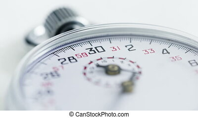 Time lapse close up Stopwatch - Time lapse close up Silver...