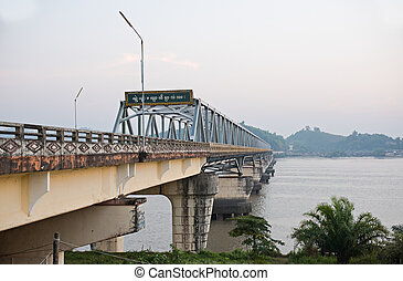Bridge over the Tanintharyi River in Southern Myanmar
