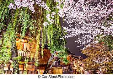 Spring in Kyoto, Japan - Spring foliage in Kyoto, Japan at...