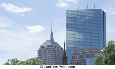 Time lapse Boston Skyscraper - Time lapse close up of...