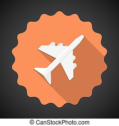 Travel Airport Airplane Flat icon vector background