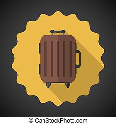 Travel Airport Luggage Flat icon vector background