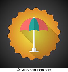 Summer Travel Umbrella flat vector icon