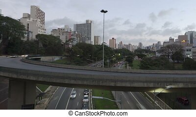 Time lapse Traffic Sao Paulo - Time lapse Traffic close up...