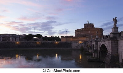 Timelapse zoom Rome Castel SAngelo - Time lapse zoom out...