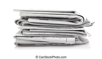 newspapers over white background - Various newspapers over...