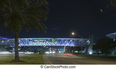Time lapse car light trails Daytona - Time lapse Welcome to...