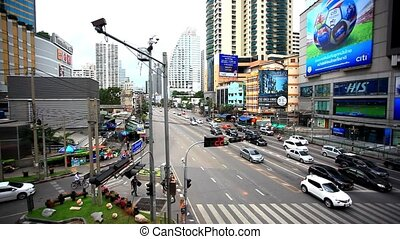 BANGKOK 3 august 2014, Traffic on road in Bangkok, Thailand...
