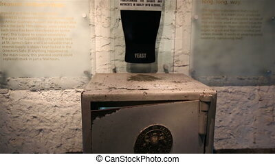 Receptacle with yeast in a safe. Excursion to the Guinness...
