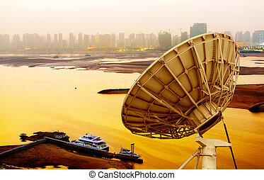 satellite dish - picture of parabolic satellite dish space...