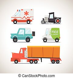 Car Flat Icon Set 3