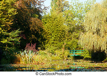 Monet's water lily pond in Giverny