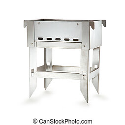 Barbecue grill on white background small version