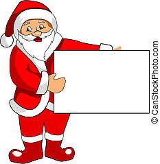 Santa Claus with blank paper - Funny Santa Claus with blank...