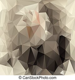 vector polygonal background with irregular tessellations pattern - triangular design in vintage colors - gray, beige, pink