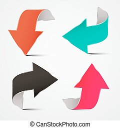 Vector 3D Arrows Set