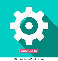 Cog - Gear Flat Design Vector Symbol