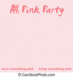 all pink ribbon party
