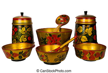 Russian traditional wooden ware