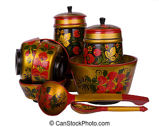 Russian traditional wooden ware - The Russian traditional...