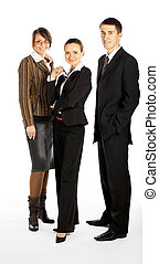 businessteam - business team of 1 men and 2 women