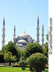 Sultan Ahmed Mosque - The Turkish famous national Sultan...