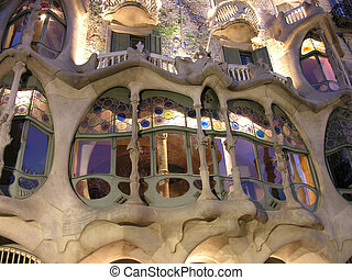 Barcelona Architecture, 2005 - A building in a Barcelona...