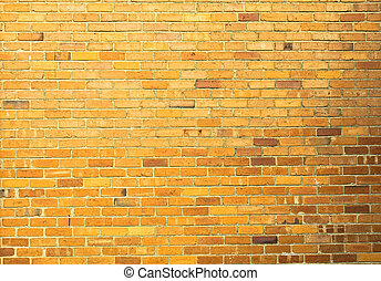 Yellow brick wall background - Yellow brick wall seamless...