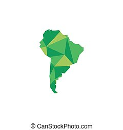 South America continent Polygonal illustration Vector