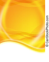 abstract orange flyer - abstract yellow and orange flyer for...