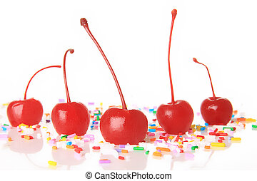 Maraschino cherries - Red maraschino cherries and birthday...