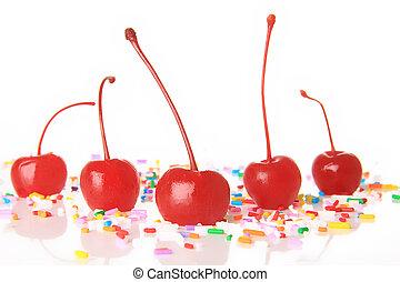 Maraschino cherries - Red maraschino cherries and birthday...