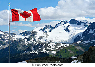 Rocky mountains at Whistler, Canada.
