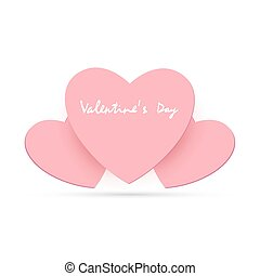 Valentine card with heart