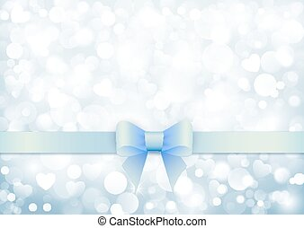 Elegant background with blue bow
