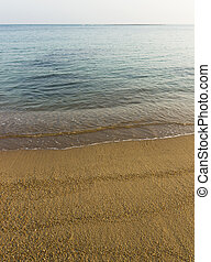 tranquil water of sea - tranquil beautiful sand beach. calm...