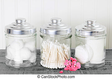 Cotton health care supplies - Containers of cotton health...