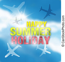 Happy Summer Holiday Design