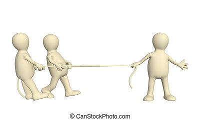 Competition - pulling of a rope