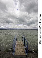 Balaton - view of the lake Balaton in Hungary