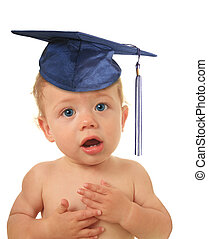 Baby graduate - Adorable ten month old baby boy wearing a...