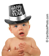 Happy New Year baby - Cute Happy New Year Baby studio...
