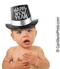 Happy New Year baby - Cute Happy New Year Baby studio...