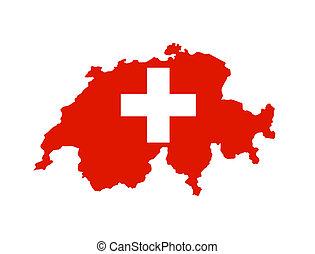 switzerland flag map